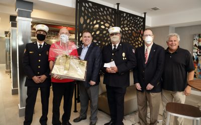 Somerville Fire Department Receives Thank You Donation from Somerville Parc